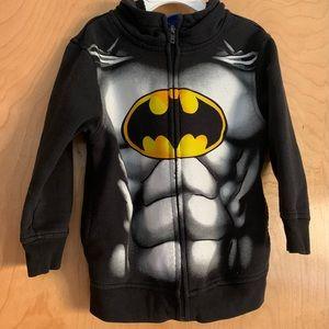 Batman size 5 zip up hoodie